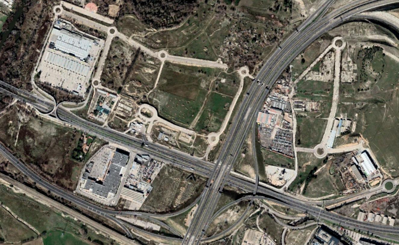 enlace M-45 con A-2, san fernando de henares, madrid, enlace o rotondas, después, urbanismo, planeamiento, urbano, desastre, urbanístico, construcción, rotondas, carretera