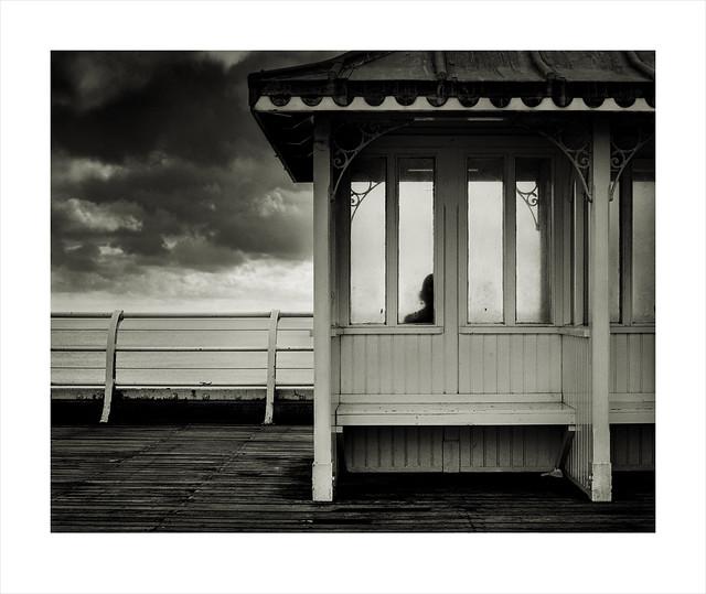 Shelter. Cromer Pier, Norfolk.