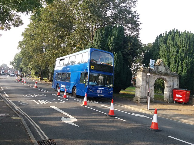 Damory Coaches loaned ex-Solent Blue Line 1802 - HX51 ZRC -a Volvo B7TL East Lancs Myllennium Vyking to Southern Vectis for the Isle of Wight Festival shuttles