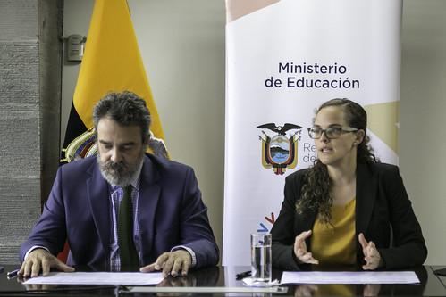 Suscripción de POA Entre el Ministerio de Educación y Unicef