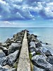 The breakwater from Timmendorf Beach.