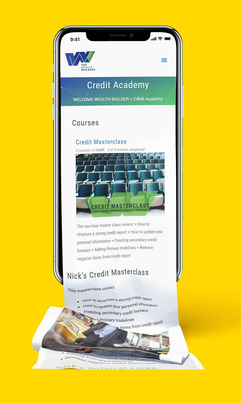 Credit Master Class Page