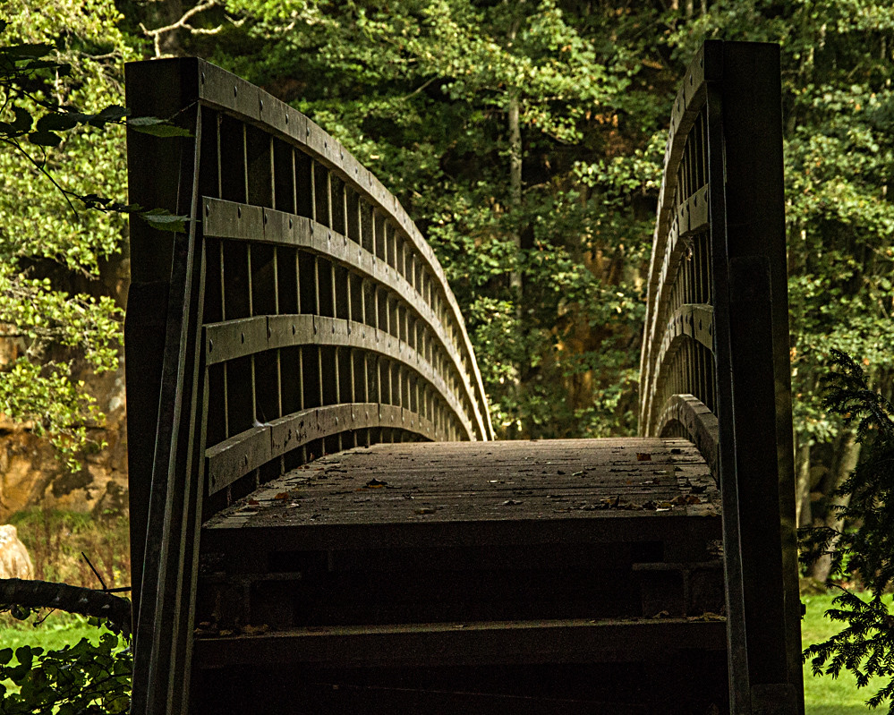 Bridge over the River at Allen Banks in Northumberland