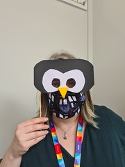 Double masks - face and penguin!