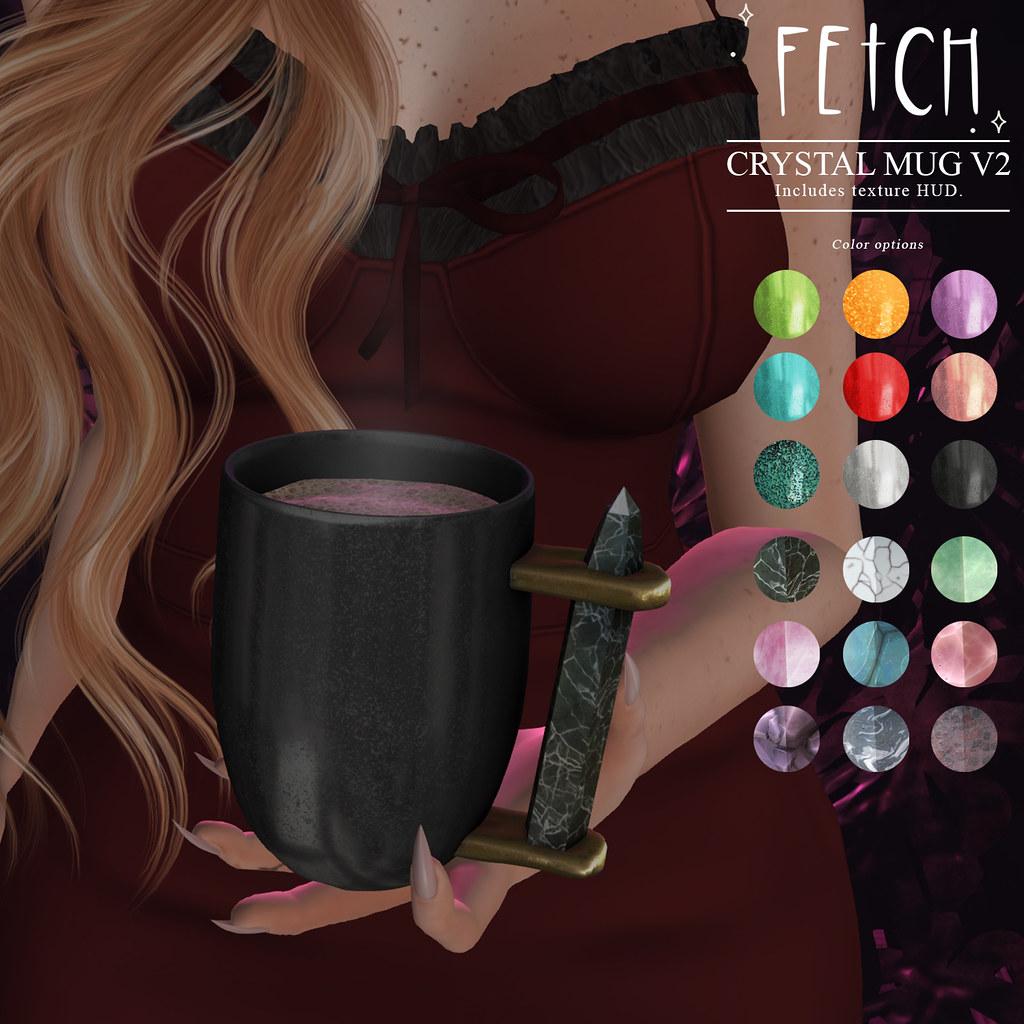[Fetch] Crystal Mug v2 @ Fifty Linden Friday