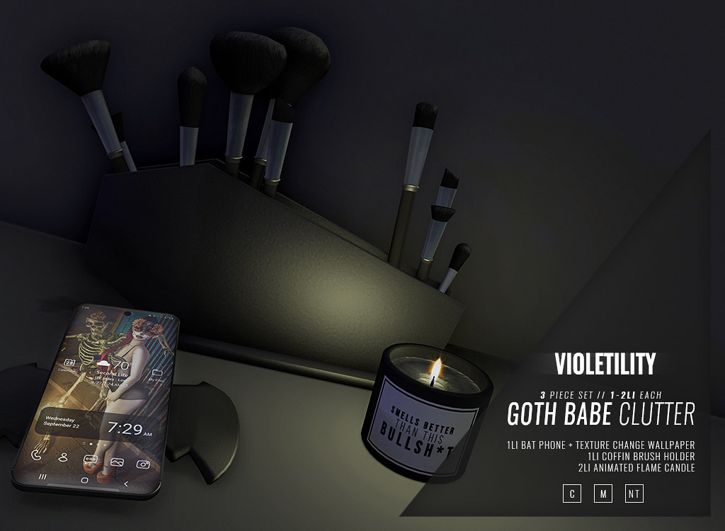 Violetility – Goth Babe Clutter