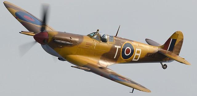 RAF Supermarine Spitfire JG891 G-LFVC 249 Squadron RAF based at Ta Qali airfield Malta