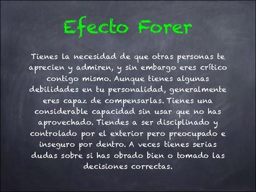 Una descripción como ejemplo del Efecto Forer o Barnum