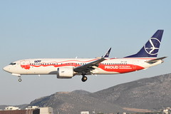 SP-LVD LOT Polish Airlines B738 MAX u201cProud for Polandu2019s Independenceu201d 12/8/21 in Athens from Warsaw (WAW)