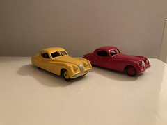 Two restored DINKY -Jaguar XK 120u2019s ,I bought a few years ago.