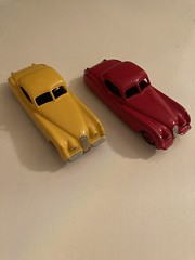 The two restored DINKY -Jaguar XK 120u2019s ,I bought a few years ago .