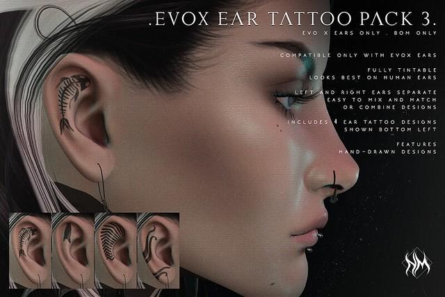 . Nar Mattaru . Evo X Ear Tattoos {Pack #3}