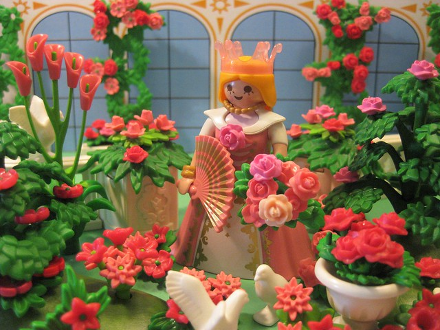 The Pink Princess Gathers Pink Rose Blooms