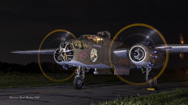 Night engine run.