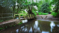 Ford crossing of the river Tilling Bourne