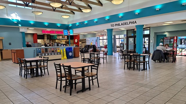 Seating area at Frank S. Farley Service Plaza [03]