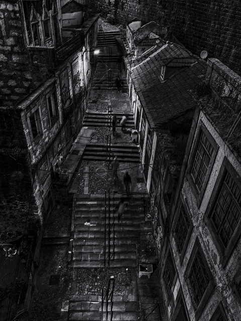 Treppenaufgang in Porto