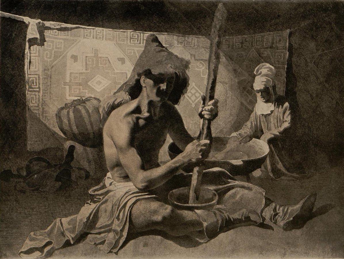 1849. Калмык в юрте