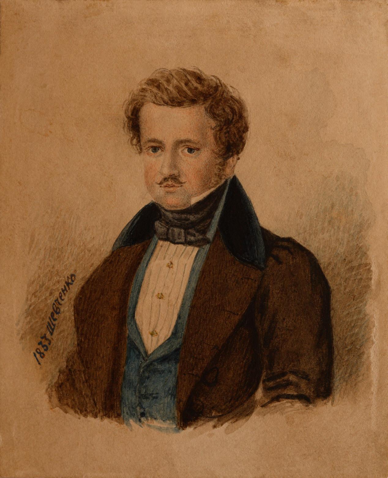 1833. Портрет П. В. Энгельгардта