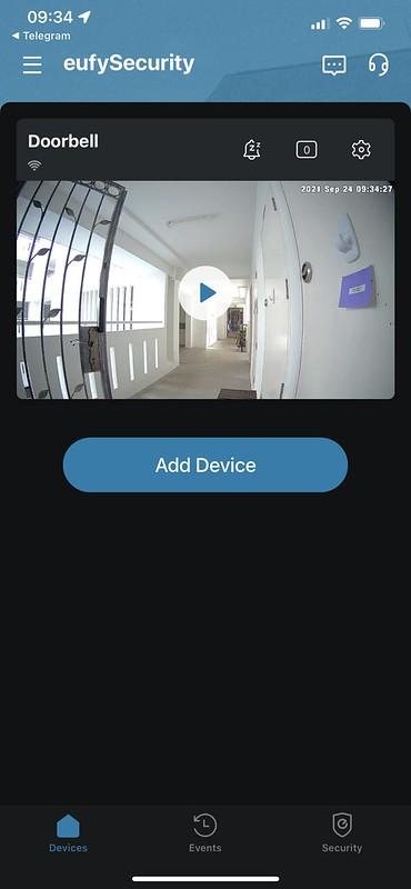 Eufy iOS App - Home