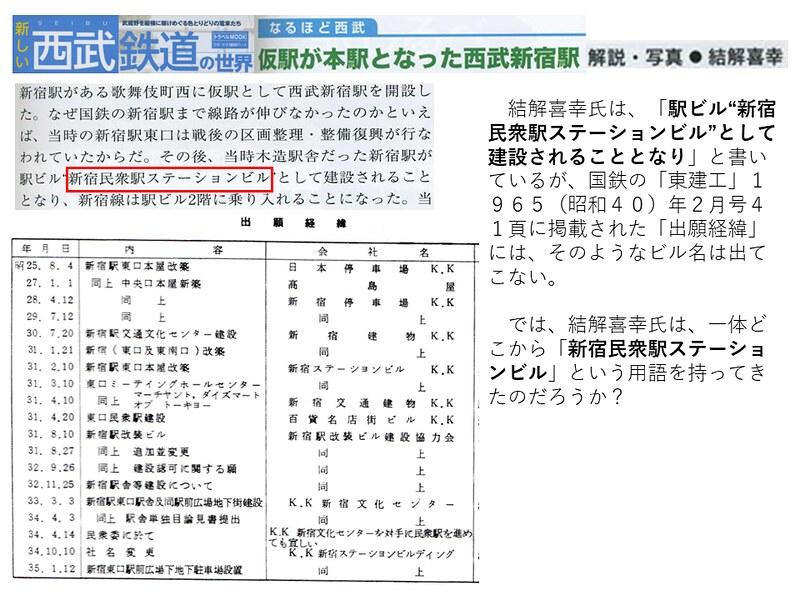 交通新聞社「新しい西武鉄道の世界」結解喜幸氏の新宿駅乗り入れ記事がひどい (6)