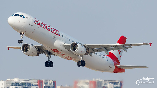 TLV - Austrian Airlines Airbus A321 OE-LBE