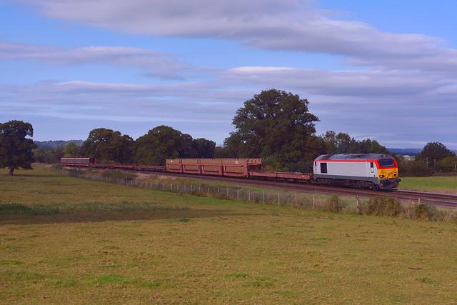 67017 at Hadnall with (6F52) 1505 Arpley - Donnington RFT 23092021