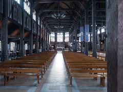 Interior Sainte-Catherine church - Honfleur, France
