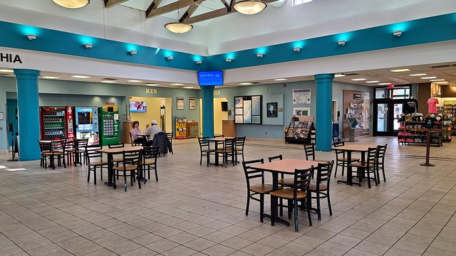 Seating area at Frank S. Farley Service Plaza [02]