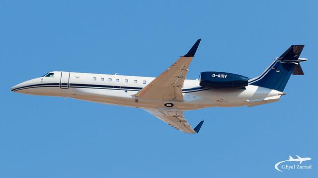 TLV - Air Hamburg Embraer Legacy 650E D-AIRV