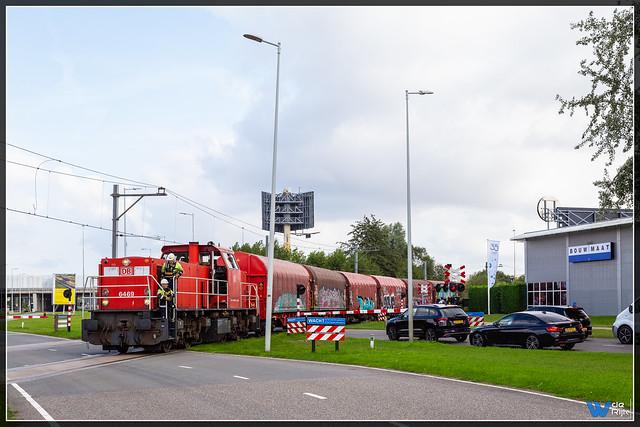 Amsterdam 30-08-2021, DB Cargo 6469 + UC Westhaven