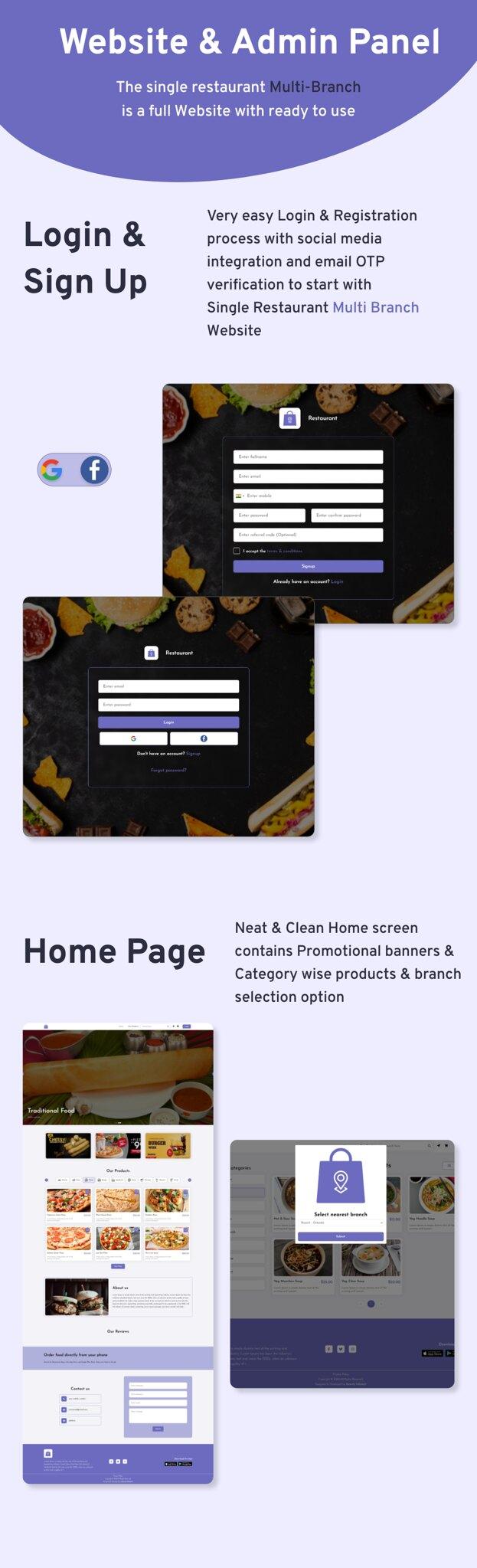 Multi-Branch Restaurant - Laravel Web Admin Panel - 7