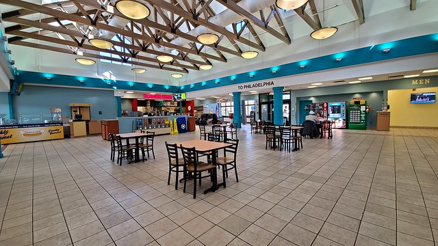 Seating area at Frank S. Farley Service Plaza [04]