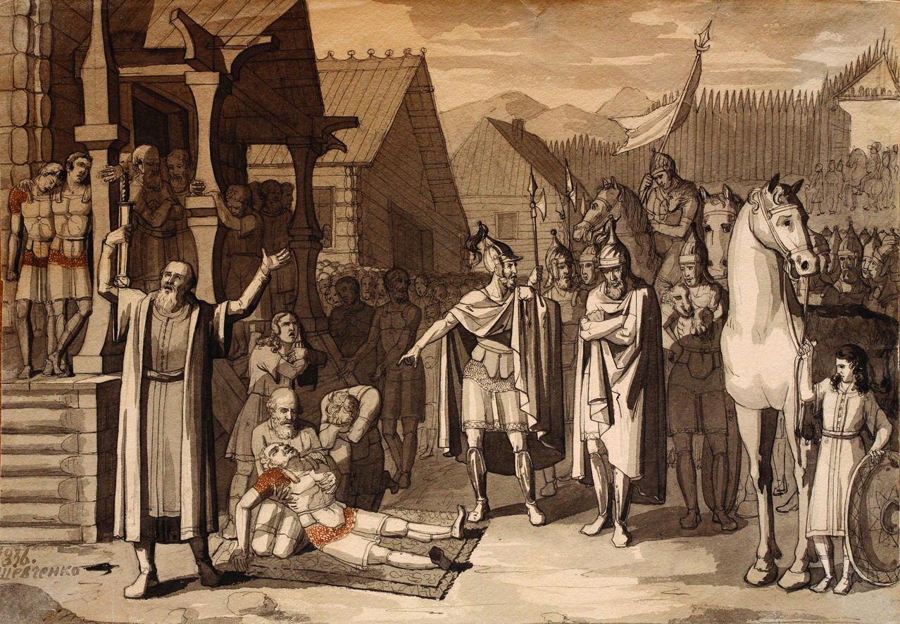 1836. Смерть Олега, князя древлянского