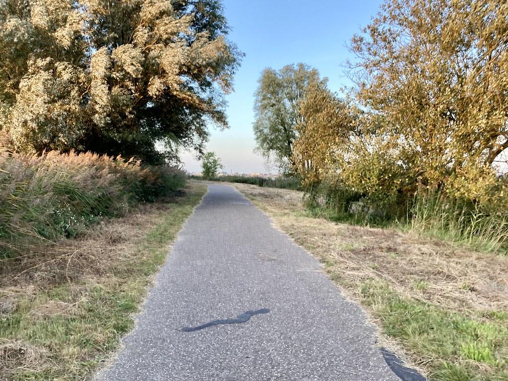 Start fietspad rond de Binnenschelde.