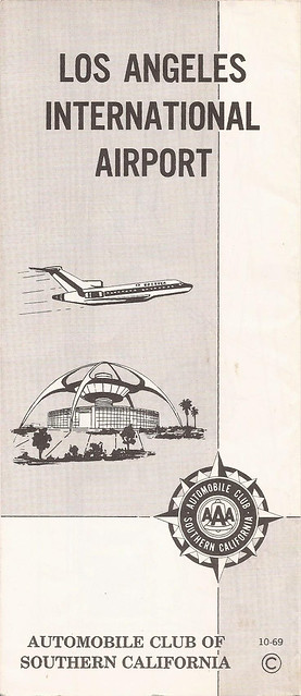 Vintage Automobile Club of Southern California (ACSC) map of Los Angeles International Airport (LAX) - October 1969