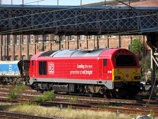 67028 Resting at Doncaster.