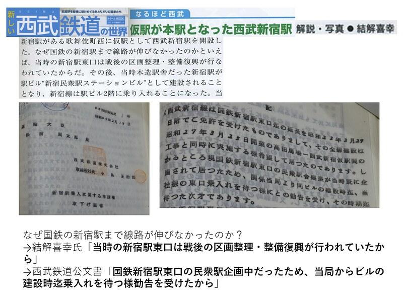 交通新聞社「新しい西武鉄道の世界」結解喜幸氏の新宿駅乗り入れ記事がひどい (5)