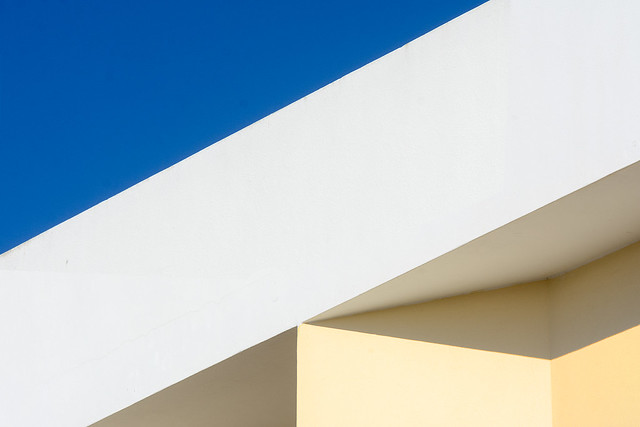 White, yellow and blue