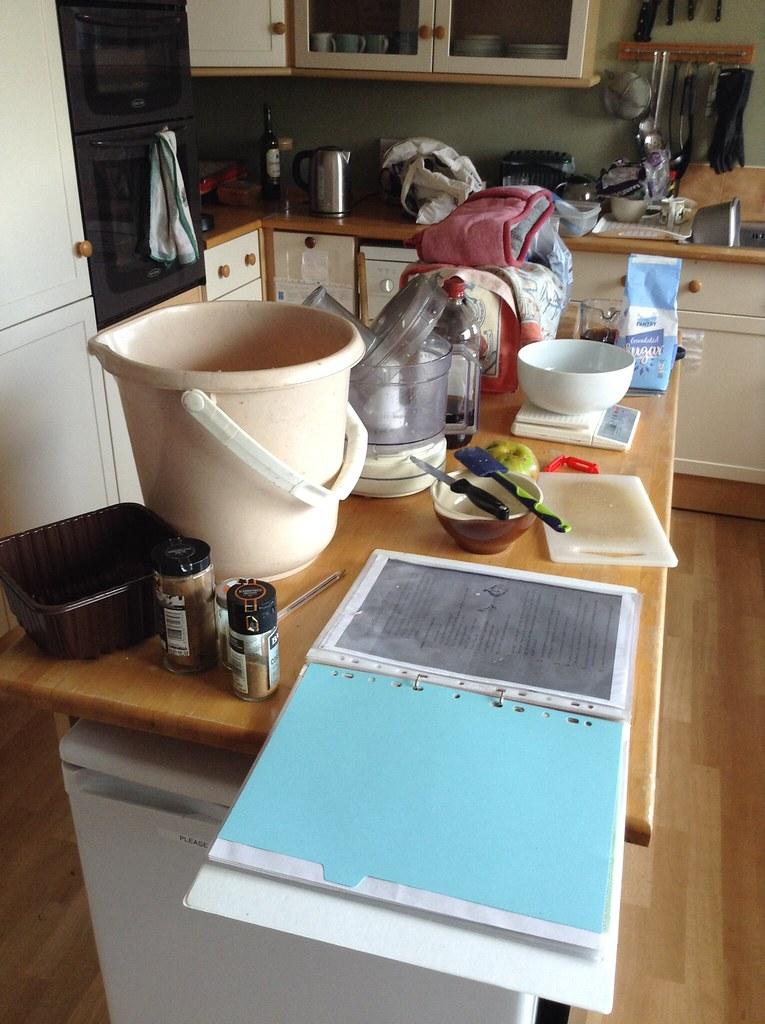 Apple Chutney, Damson Chutney & Damson Gin: Controlled chaos in the kitchen