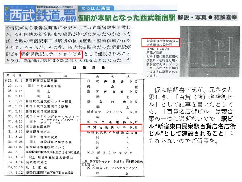 交通新聞社「新しい西武鉄道の世界」結解喜幸氏の新宿駅乗り入れ記事がひどい (9)