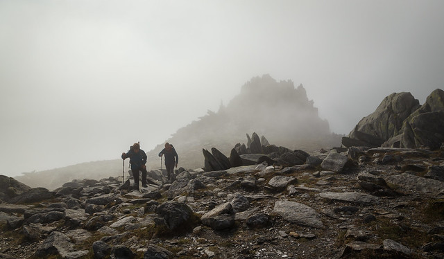 On a misty Glyder Fach - Snowdonia - Wales