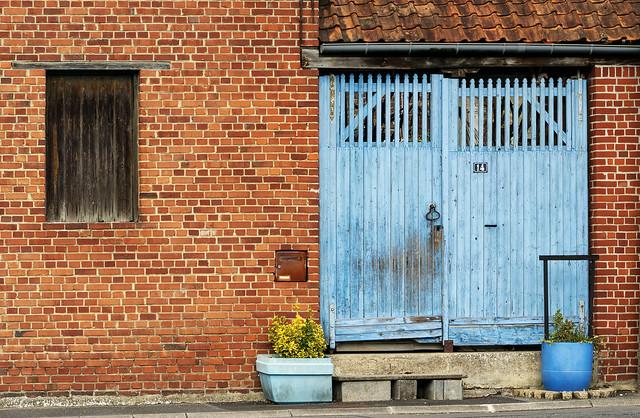 Blue door number 14