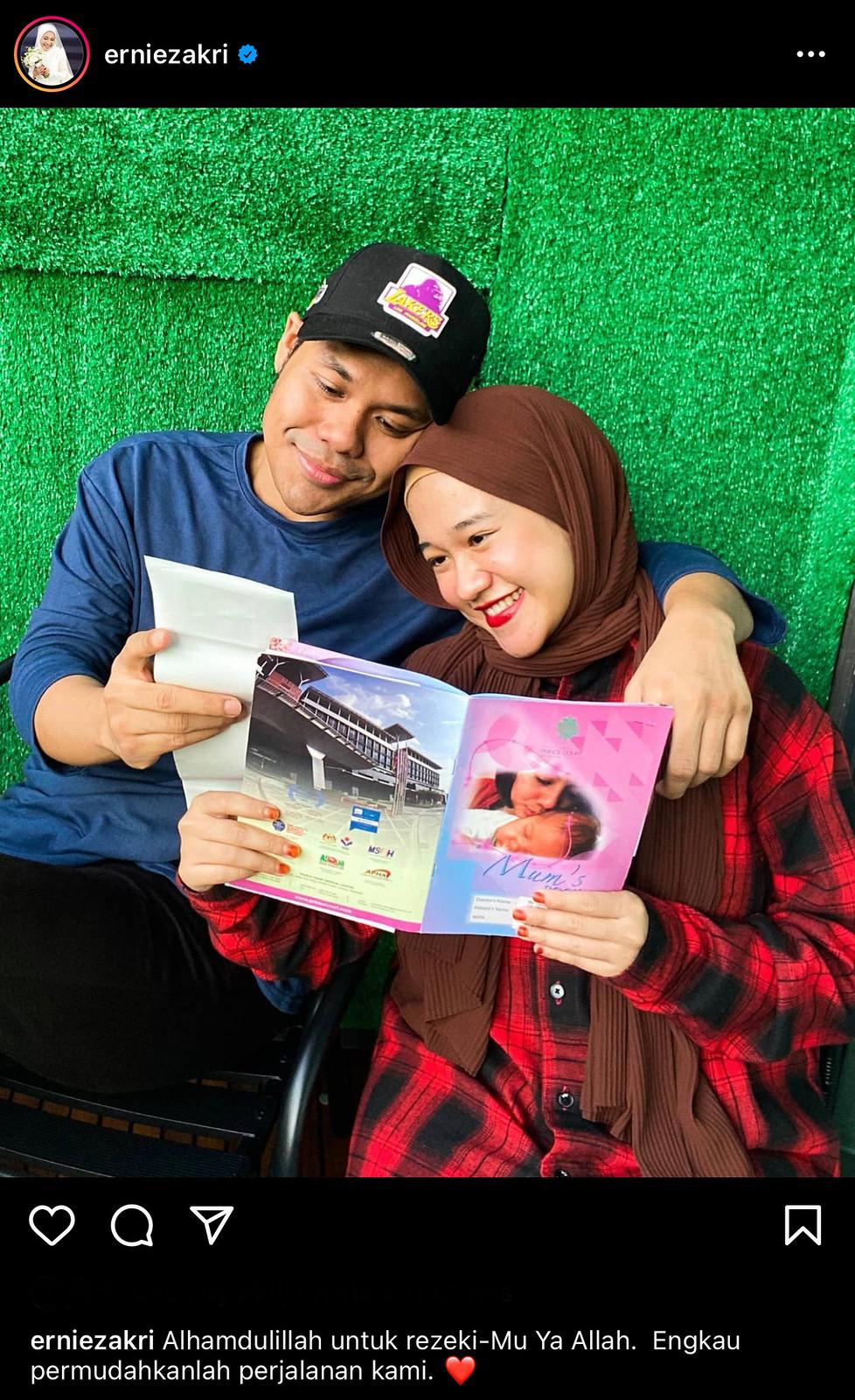 Ernie Zakri Hamil Empat Bulan, Mengalami Alahan &Amp; Sensitif Dengan Makanan