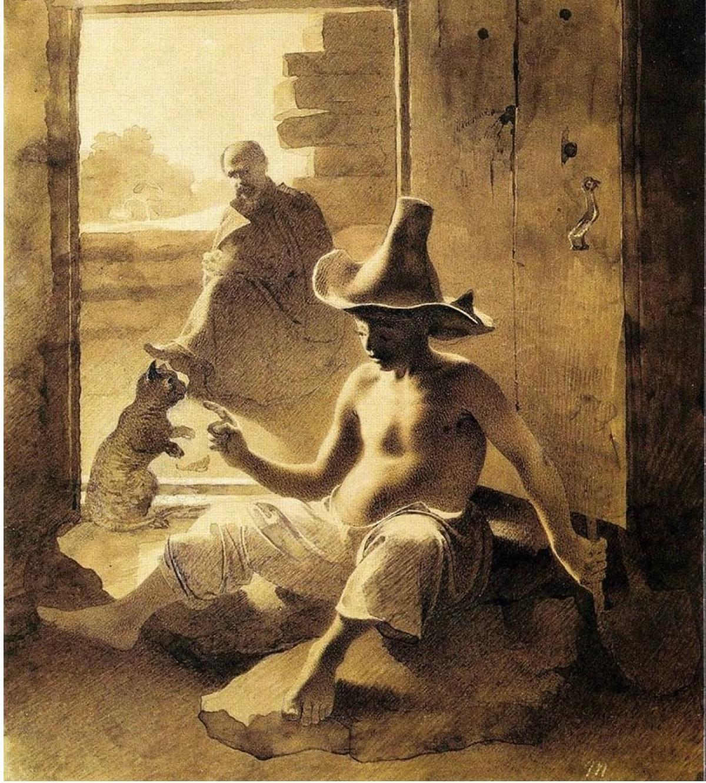 1848. Калмык в юрте