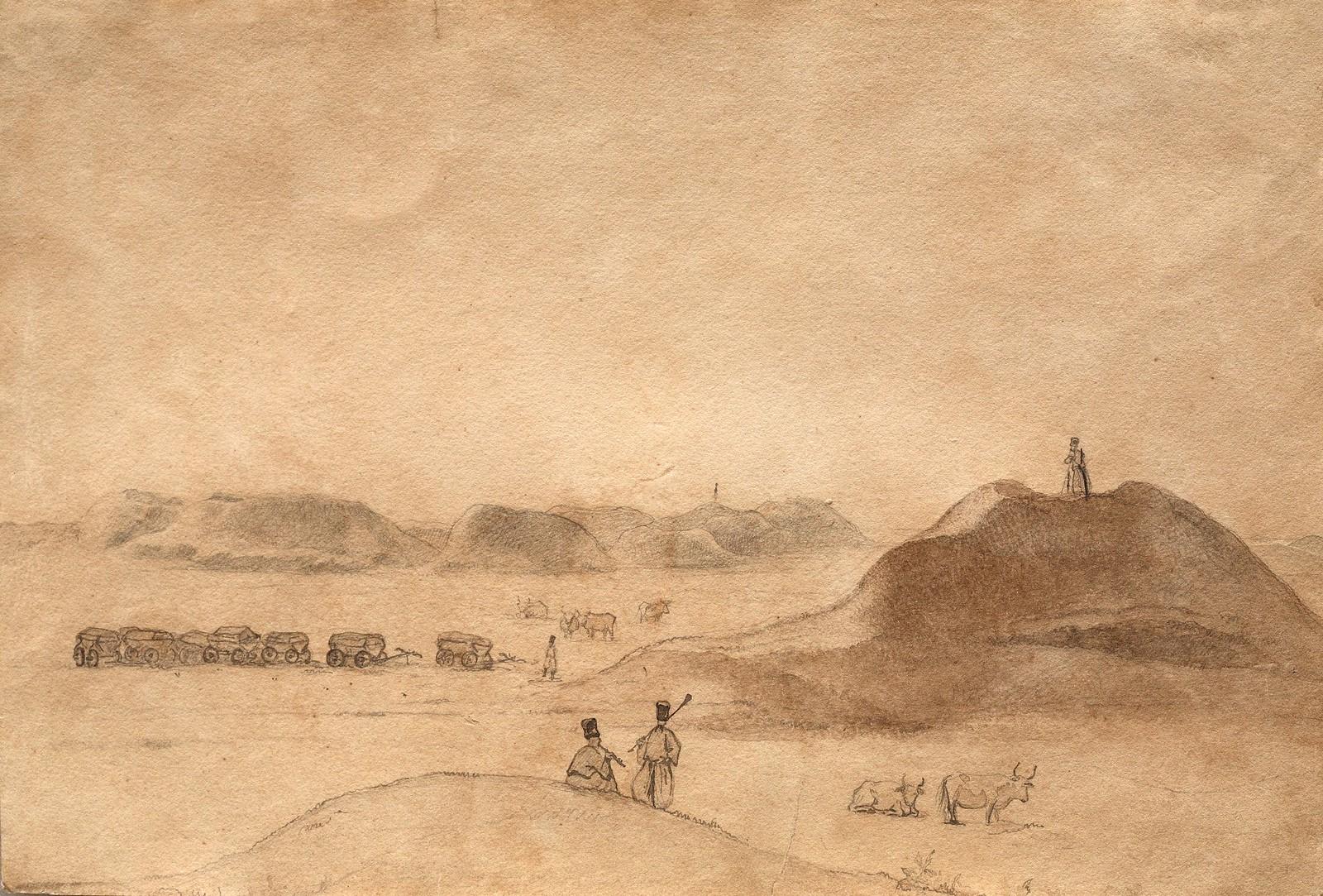 1846. Чумаки среди могил