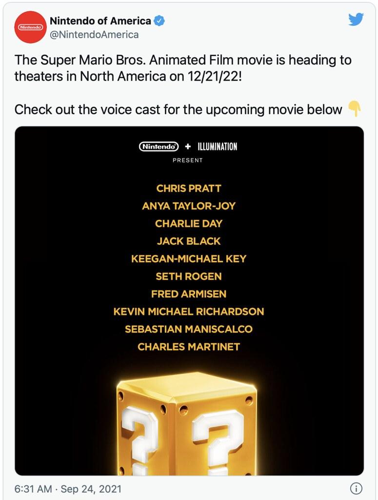 Chris Pratt Bintangi Filem Super Mario Bros.