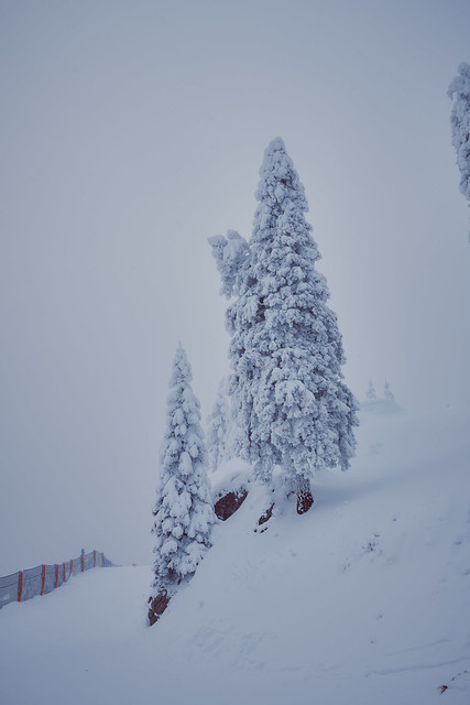 A day with snow in the mountain