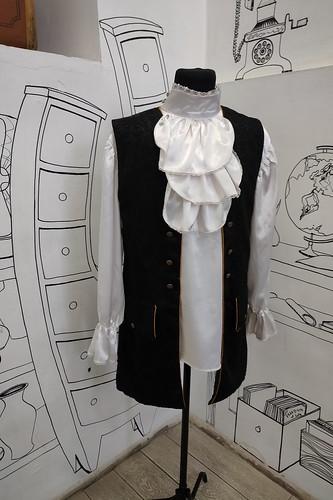Мужской карнавальный костюм Атласная рубашка и жилет