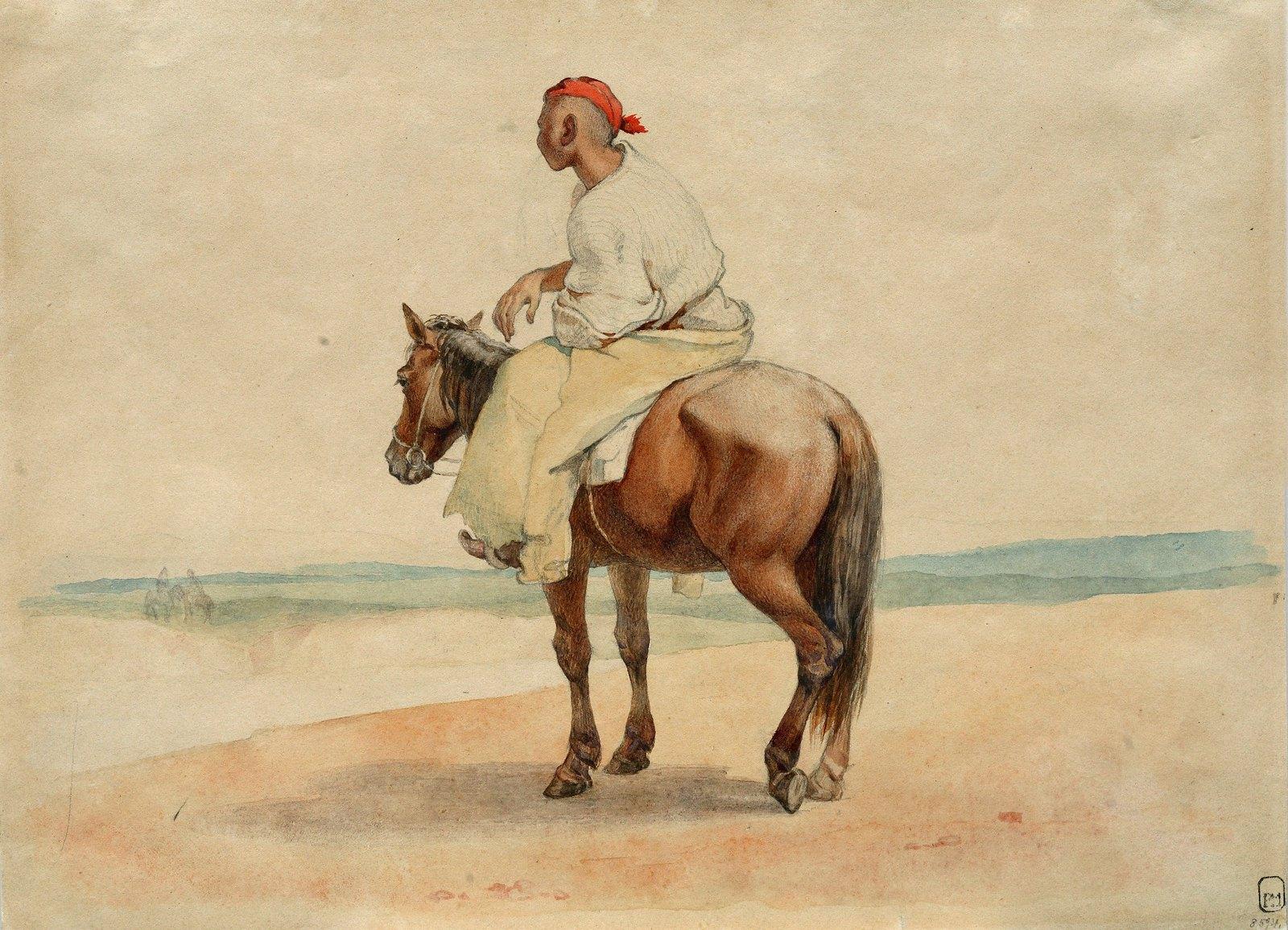 1848. Киргиз на коне.